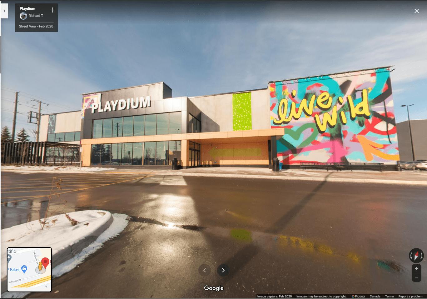 playdium google street view tour